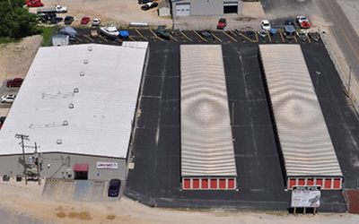 Aerial photo of storage facility