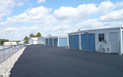 Clean and flat parking lot at AAA Secure Storage